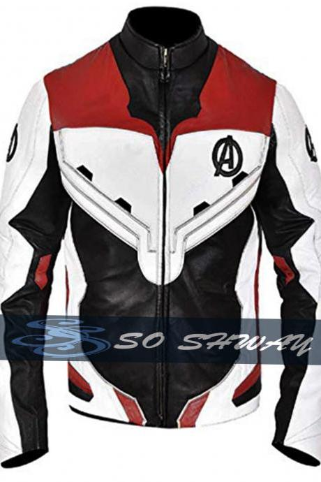 Avengers Endgame Faux Leather Jacket Quantum Realm Superhero Cosplay Costume For Men